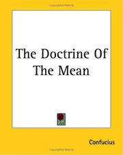 Cover of: The Doctrine Of The Mean | Confucius