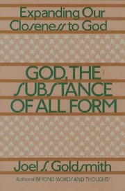 Cover of: God The Substance Of All Form