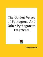 Cover of: The Golden Verses of Pythagoras and Other Pythagorean Fragments