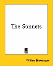 Cover of: The Sonnets
