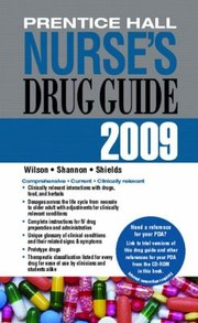 Cover of: Prentice Hall Nurses Drug Guide 2009 |