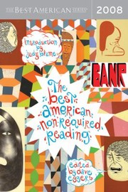 Cover of: The Best American Nonrequired Reading 2008