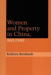 Cover of: Women And Property In China 9601949