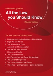Cover of: All The Law You Should Know