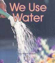 Cover of: We Use Water