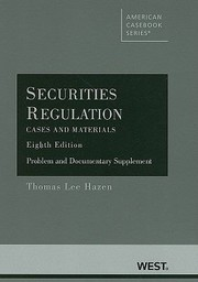 Cover of: Securities Regulation Caes And Materials