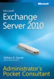 Cover of: Microsoft Exchange Server 2010 Administrators Pocket Consultant