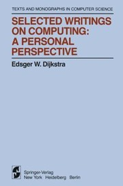 Cover of: Selected Writings On Computing A Personal Perspective