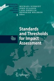 Cover of: Standards and Thresholds for Impact Assessment