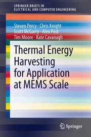 Cover of: Thermal Energy Harvesting For Application At Mems Scale