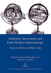 Cover of: Authority Innovation And Early Modern Epistemology