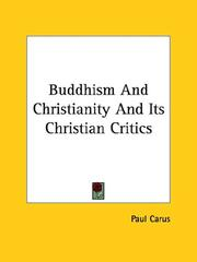 Cover of: Buddhism And Christianity And Its Christian Critics