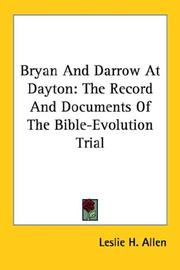 Cover of: Bryan And Darrow At Dayton | Leslie H. Allen