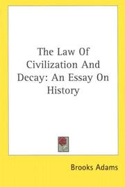 Cover of: The law of civilization and decay