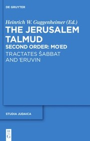 Cover of: The Jerusalem Talmud Talmud Yerualmi