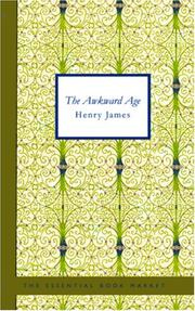 Cover of: The Awkward Age | Henry James Jr.