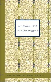 Cover of: Mr. Meeson's Will