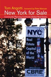 Cover of: New York For Sale Community Planning Confronts Global Real Estate