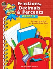 Cover of: Fractions Decimals Percents Grade 5