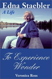 Cover of: To experience wonder