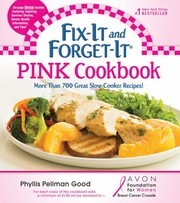 Cover of: Fixit And Forgetit Pink Cookbook More Than 700 Great Slowcooker Recipes
