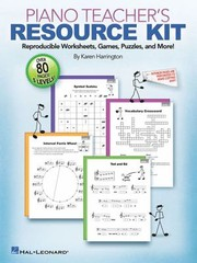 Cover of: Piano Teachers Resource Kit Reproducible Worksheets Games Puzzles And More