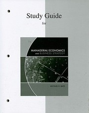 Cover of: Study Guide For Use With Managerial Economics And Business Strategy