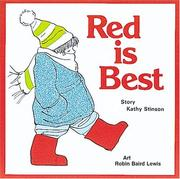 Cover of: Red is Best (Annikins)
