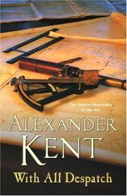 Cover of: With All Despatch | Alexander Kent
