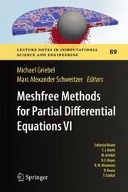 Cover of: Meshfree Methods For Partial Differential Equations Vi