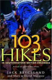 Cover of: 103 hikes in southwestern British Columbia | Jack Bryceland