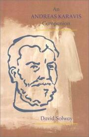 Cover of: An Andreas Karavis companion