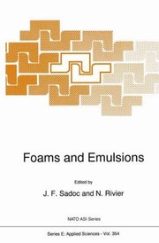 Cover of: Foams And Emulsions