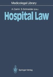 Cover of: Hospital Law