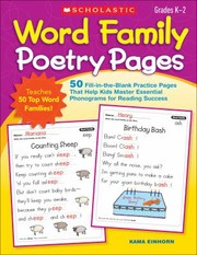 Cover of: Word Family Poetry Pages