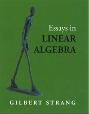 Cover of: Essays In Linear Algebra