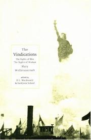 Cover of: A vindication of the rights of men | Mary Wollstonecraft