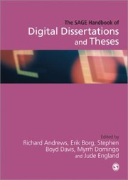 Cover of: The Sage Handbook Of Digital Dissertations And Theses