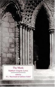 Cover of: The Monk: A Romance (Broadview Literary Texts)