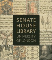 Cover of: Senate House Library University Of London