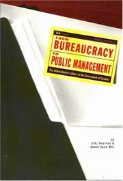 Cover of: From bureaucracy to public management