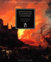 Cover of: Revolutions in Romantic literature
