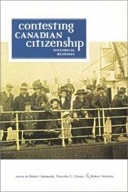 Cover of: Contesting Canadian citizenship |