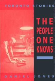 Cover of: The people one knows