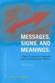 Cover of: Messages, Signs, and Meanings