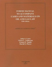 Cover of: Cases And Materials On Oil And Gas Law