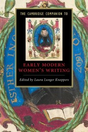 Cover of: The Cambridge Companion To Early Modern Womens Writing