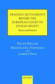Cover of: Friendly Settlements Before the European Court of Human Rights