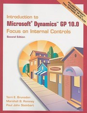 Cover of: Introduction To Microsoft Dynamics Gp 100 Focus On Internal Controls