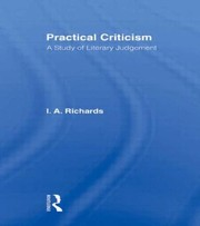 Cover of: Practical Criticism A Study Of Literary Judgement